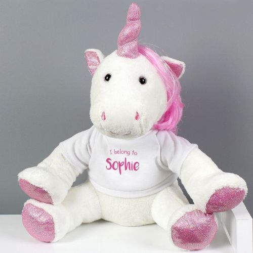 'I Belong To' Plush Unicorn